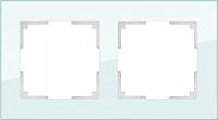 Рамка для выключателя Werkel Favorit WL01-Frame-02 / a031476 (натуральное стекло) -