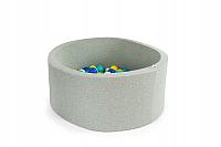 Игровой сухой бассейн Misioo 90x30 200 шаров (светло-серый) -