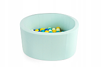 Игровой сухой бассейн Misioo 90x30 200 шаров (мятный) -