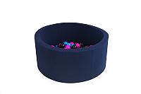 Игровой сухой бассейн Misioo 90x30 200 шаров (темно-синий) -