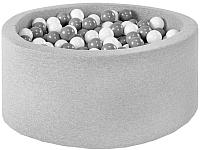 Игровой сухой бассейн Misioo 90x40 200 шаров (светло-серый) -