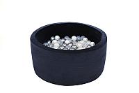 Игровой сухой бассейн Misioo 90x40 200 шаров (темно-синий, вельвет) -