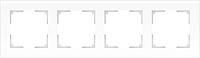 Рамка для выключателя Werkel Favorit WL01-Frame-04 / a036580 (белый, матовый) -