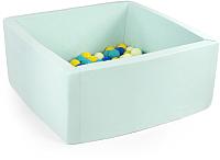 Игровой сухой бассейн Misioo 90x90x40 200 шаров (мятный) -