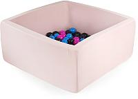 Игровой сухой бассейн Misioo 90x90x40 200 шаров (светло-розовый) -