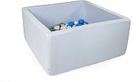 Игровой сухой бассейн Misioo 90x90x40 200 шаров (светло-синий) -