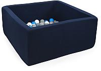 Игровой сухой бассейн Misioo 90x90x40 200 шаров (темно-синий) -