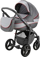 Детская универсальная коляска Adamex Sicilia 2 в 1 (X1, графитовый/серая кожа) -