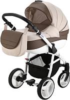 Детская универсальная коляска Adamex Sicilia 2 в 1 (X21, бежевый/коричневый) -