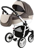 Детская универсальная коляска Adamex Sicilia 2 в 1 (X22, коричневый/молочный) -