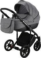Детская универсальная коляска Adamex Sicilia Deluxe 2 в 1 (20L-C/серый лен) -