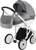 Детская универсальная коляска Adamex Sicilia Deluxe Pik 2 в 1 (3/серый L/серый пик) -