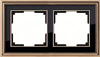 Рамка для выключателя Werkel Palacio WL17-Frame-02 / a037673 (золото/черный) -