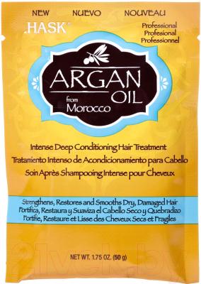 Маска для волос HASK Интенсивная для восстановления волос с аргановым маслом (50г)