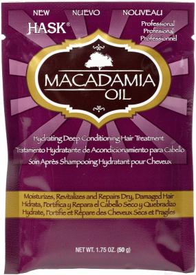 Маска для волос HASK Увлажняющая с маслом макадамии (50мл)