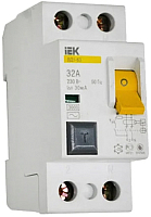 Устройство защитного отключения IEK ВД1-63 2P 32А 30mA / MDV10-2-032-030 -