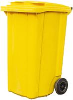Контейнер для мусора Plastik Gogic 240л (желтый) -