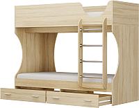 Двухъярусная кровать Олмеко Д 2 (дуб сонома) -