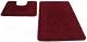 Набор ковриков Shahintex РР 50x80/50x50 (бордовый) -