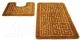 Набор ковриков Shahintex РР 50x80/50x50 (золото) -