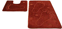 Набор ковриков Shahintex РР 50x80/50x50 (кирпичный) -