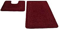 Набор ковриков Shahintex РР 60x100/60x50 (бордовый) -