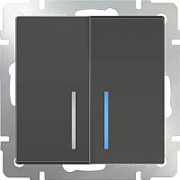 Выключатель Werkel WL07-SW-2G-LED / a029879 (серо-коричневый) -