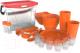 Набор пластиковой посуды Berossi Party ИК 56140000 (мандариновый) -