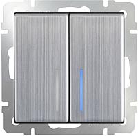 Выключатель Werkel WL02-SW-2G-2W-LED / a030793 (глянцевый никель) -