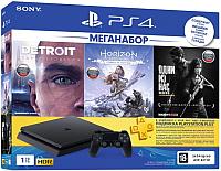 Игровая приставка Sony PlayStation 4 1TB + 3 игры / PS719926108 (с подпиской на 3 месяца) -