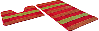 Набор ковриков Shahintex РР Mix Lux 60x100/60x50 (оранжевый) -