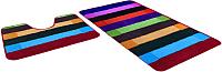 Набор ковриков Shahintex РР Mix Lux 60x100/60x50 (радуга) -
