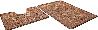 Набор ковриков Shahintex Эко 45x71/45x43 (кофе с молоком) -