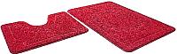 Набор ковриков Shahintex Эко 60x90/60x50 (бордовый) -