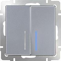 Выключатель Werkel WL06-SW-2G-LED / a029826 (серебро) -