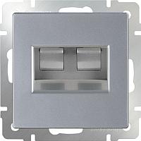 Розетка Werkel WL06-RJ11+RJ45 / a029835 (серебристый) -
