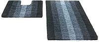Набор ковриков Shahintex Multimakaron 60x90/60x50 (черный) -