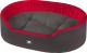 Лежанка для животных Ferplast Dandy 110 / 82946099 (черный/красный) -