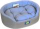 Лежанка для животных Ferplast Dandy 65 / 82943095 (серый/голубой) -