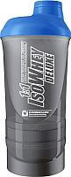 Шейкер спортивный IronMaxx Supershaker I00004165 (черный/синий) -