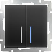 Выключатель Werkel WL08-SW-2G-2W-LED / a029877 (черный матовый) -