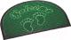 Коврик грязезащитный Shahintex МХ10S 45x75 (зеленый) -