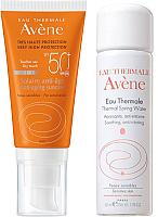Набор косметики для лица Avene Крем д/лица солнцезащ. SPF50+ 50мл+термальная вода 50мл -