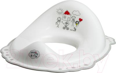 Детская накладка на унитаз Maltex Семья / 5863 (белый/серый)