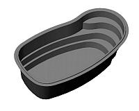 Пруд декоративный Polimerlist Премиум 6500Ч (черный) -