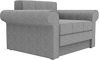 Кресло-кровать Mebelico Берли / 101289 (рогожка, серый) -