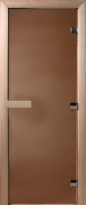 Стеклянная дверь для бани/сауны Doorwood Теплая ночь 180x70