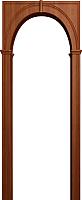 Арка межкомнатная Юркас Палермо 700-1300x190x1800 (итальянский орех) -
