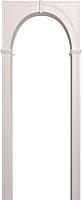 Арка межкомнатная Юркас Палермо 700-1300x190x1800 (белая эмаль) -