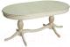 Обеденный стол ТехКомПро Нарцисс Б ножка Люкс-1 (дуб/тон 1,золотая патина) -